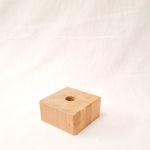 Holzfuß Eiche natur 10 x 10 x 5 cm