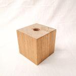 Holzfuß Eiche natur 10 x 10 x 10 cm