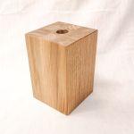 Holzfuß Eiche natur 10 x 10 x 15 cm