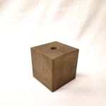 Holzfuß Eiche geräuchert 10 x 10 x 10 cm