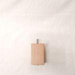 Holzfuß Eiche weiß lasiert 6 x 6 x 10 cm