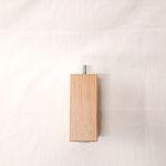 Holzfuß Eiche weiß lasiert 6 x 6 x 15 cm