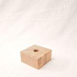 Holzfuß Eiche weiß lasiert 10 x 10 x 5 cm