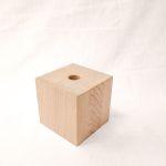 Holzfuß Eiche weiß lasiert 10 x 10 x 10 cm