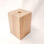 Holzfuß Eiche weiß lasiert 10 x 10 x 15 cm