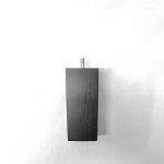 Holzfuß Buche schwarz trapezförmig 15 cm hoch