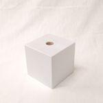 Holzfuß Buche weiß lackiert 10 x 10 x 10 cm