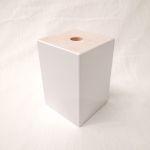 Holzfuß Buche weiß lackiert 10 x 10 x 15 cm