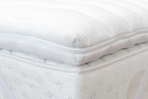 Matratzenauflage Viscoschaum 5 cm mit Doppeltuchbezug